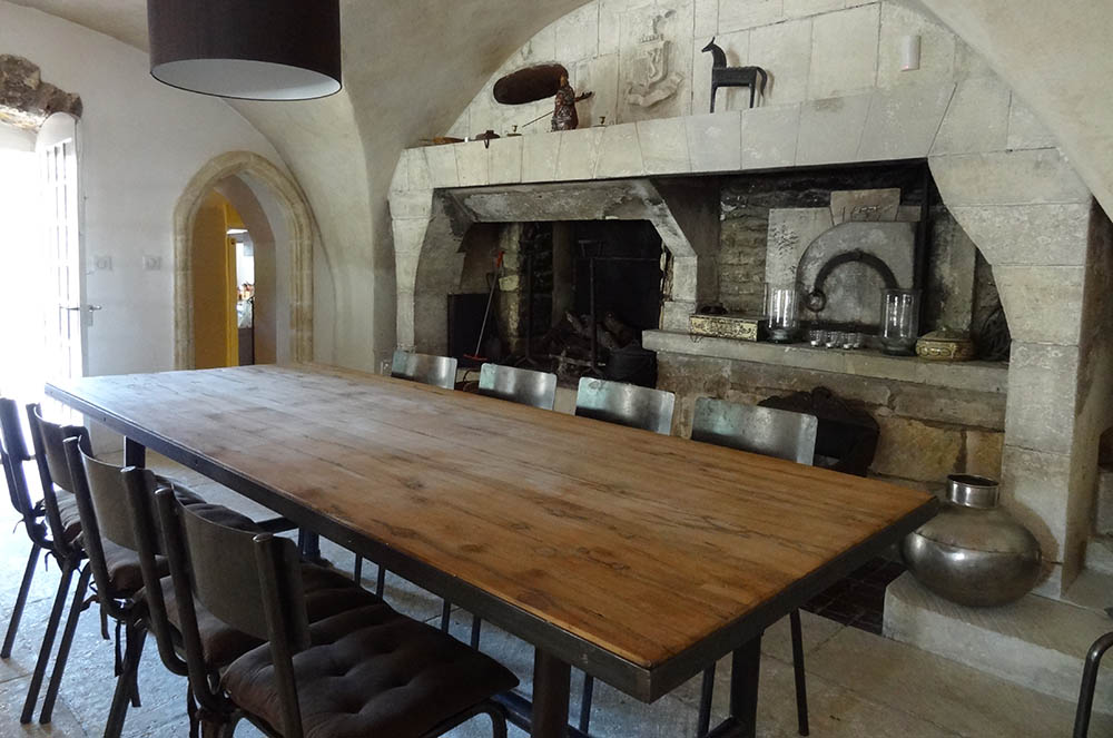 Dining room for Grande table industrielle